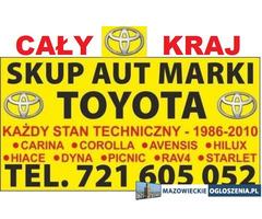 Kupię Stare Toyoty Corolla Carina Avensis Picnic Hiace, Skup Aut Warszawa