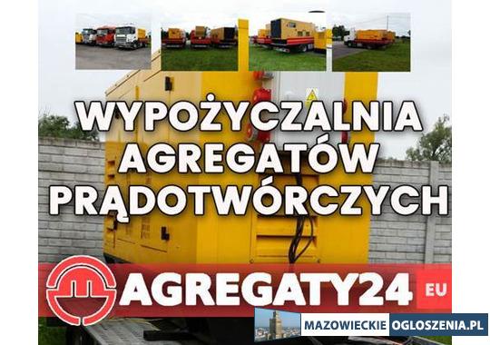 Wypożyczalnia, wynajem agregatów prądotwórczych Mazowieckie Warszawa