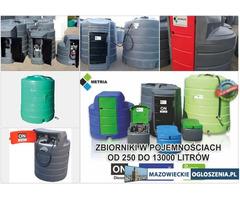 Zbiornik na paliwo paliwa 1500 , 2500, mobilny 5000, olej napędowy, dwupłaszczowy