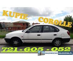 Kupię Corolle e11 e12 CAŁY KRAJ Toyota Corolla SKUP