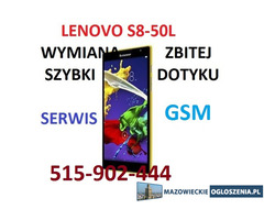 Lenovo Tab 2 A8-50 Lenovo Tab S8-50L wymiana szybki