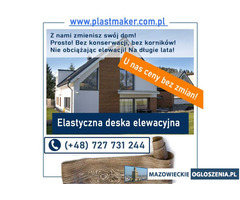ELASTYCZNA deska elewacyjna PlasterTynk - imitacja deski elewacyjnej