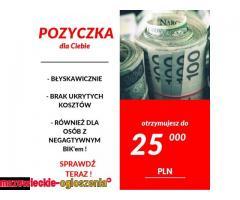Pożyczka na co chcesz- Do 25 000 zł