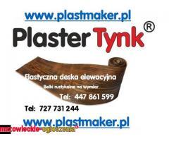 Imitacja drewna na elewacje,PlasterTynk.Elastyczne deski elewacyjne