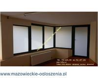 Folia matowa biała -Matte White Folkos-OKlejanie szyb Warszawa Folie mleczne, mrożone, szron