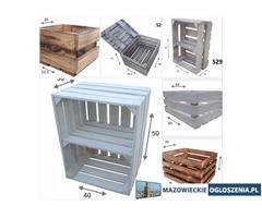 Skrzynki Drewniane, różne rozmiary i wzory